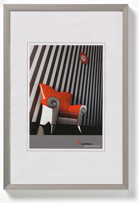 alu bilderrahmen chair 50x70 silber von walther design. Black Bedroom Furniture Sets. Home Design Ideas